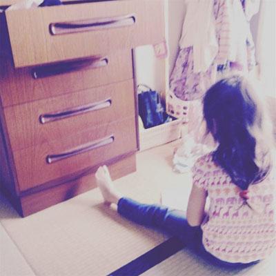 子どもとヴィンテージ家具