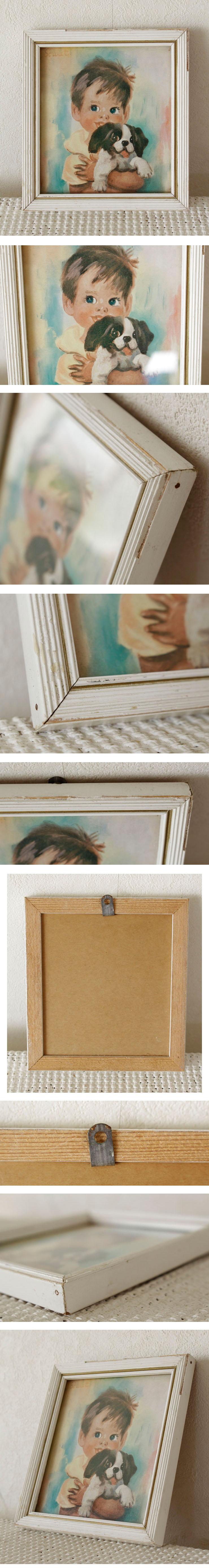 イギリス製・絵画・額入り・アンティーク・ビンテージ・児童画